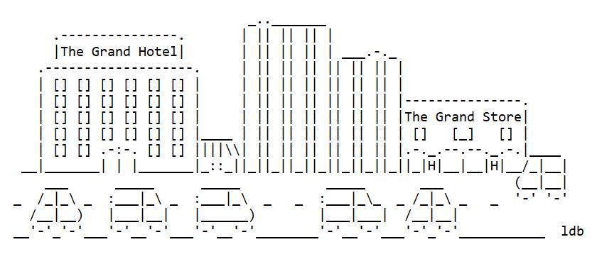 An ASCII Art City