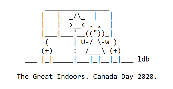 Canada Day 2020 The Great Indoors