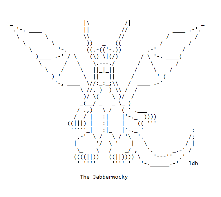 Now... The Jabberwocky