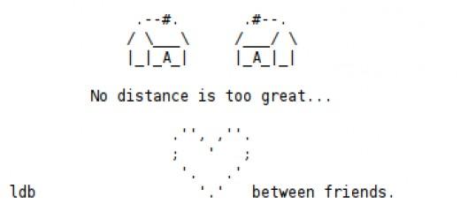 No Distance is too Great Between Friends