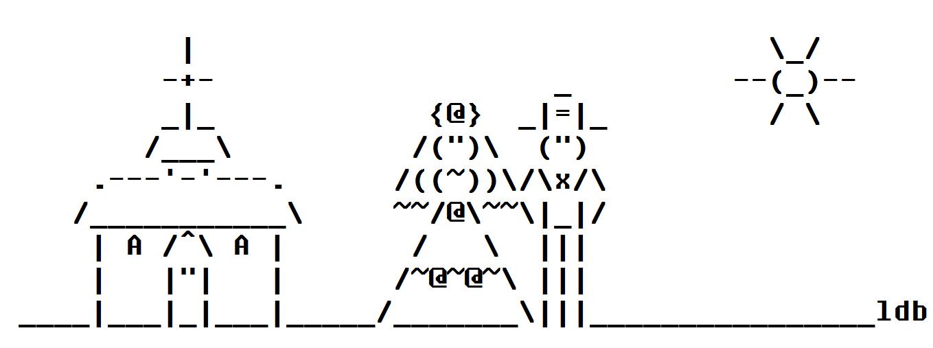 Wedding ASCII Art