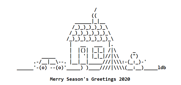 Season's Greetings for 2020