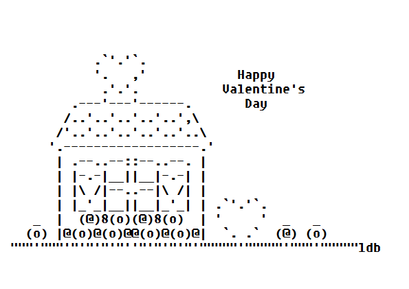 My Valentine's Day ASCII Art