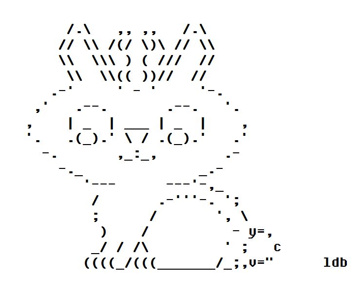 The Jackalope in ASCII Art
