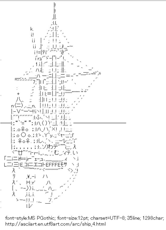 Japanese ASCII Text Art: Shift JIS
