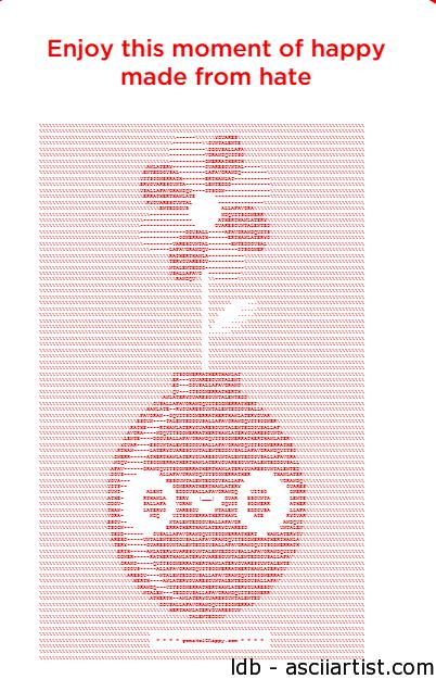 CocaCola Does MakeItHappy ASCII Art