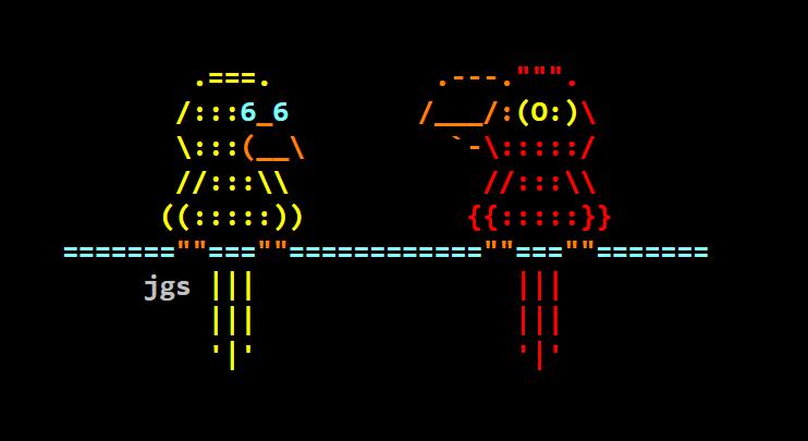Found ASCII Bird Art
