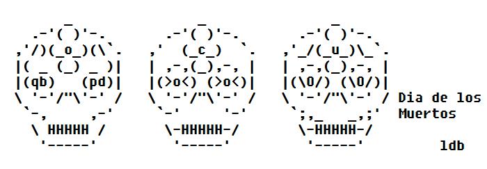 Dia de los Muertos ASCII Art