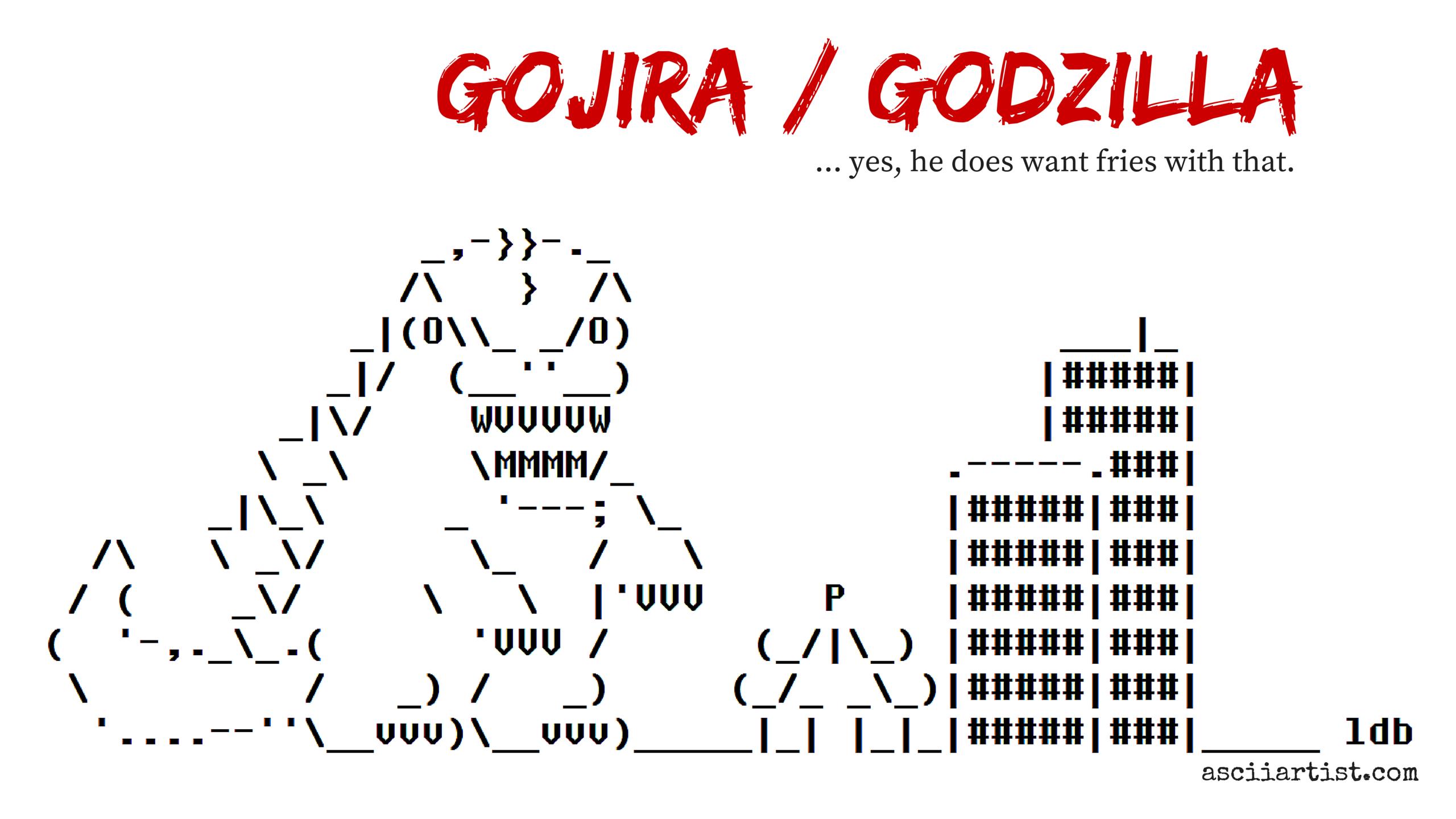 Godzilla in ASCII Art