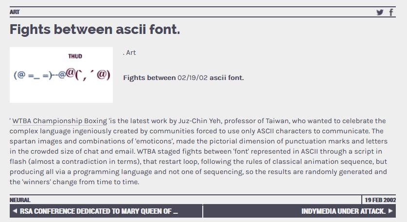 ASCII Font Fights
