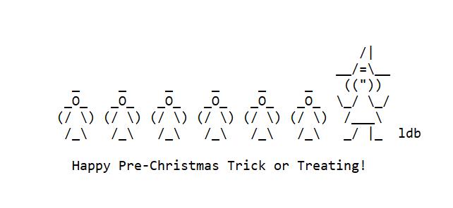 Happy Pre-Christmas Ween