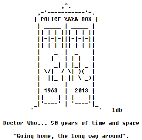 Doctor Who in ASCII Text Art