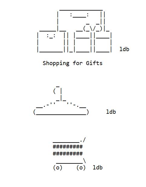 Making Shopping ASCII Art