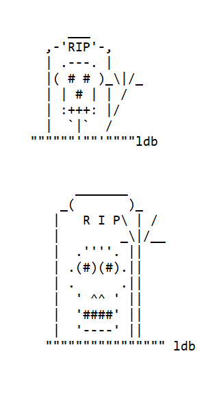 Ghosts in ASCII Text Art for Halloween