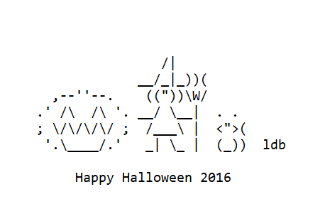 Witches in ASCII Text Art for Halloween