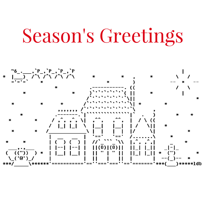 Merry Christmas ASCII Text Art