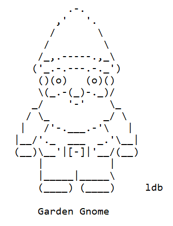 Garden Gnomes in ASCII Text Art