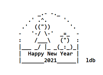 Happy New Year ASCII Text Art