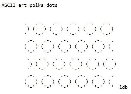 ASCII Art Polka Dots
