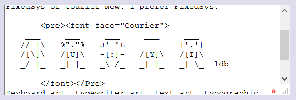 ASCII Art Working (Again) in the Curlie Description