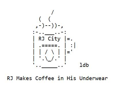 RJ City Makes Coffee in His Underwear
