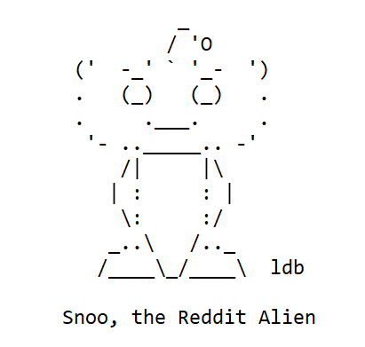 Snoo, the Reddit Alien Mascot