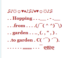 Fairyland and Garden ASCII Art Inspiration